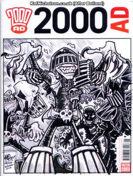 2000 AD Sketch Cover - Dark Judges - Inks by KatCardy