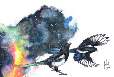 Magical Magpies by Toradh