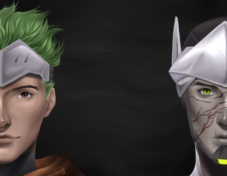 [Overwatch] Genji - Then and Now by Maneodra