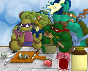 TMNT's recipe of chaos by Tigerfog