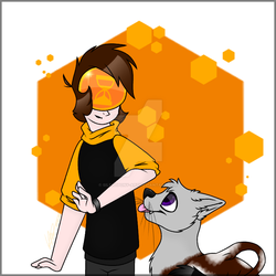 Solar Sands and Cowcat by Silentpony-art