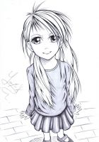 Drawing of a little girl. ^^ by Yaaxian