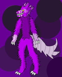 *Open* Purple Wolf Anthro Adoptable (OTA) by CreativeStorm1