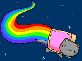Nyan cat again by MirandaMaija