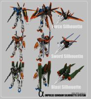 Impulse Gundam-Silhouette Sys. by sandrum