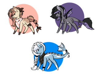 .oO Pony Adopt Oo. Points and Paypal CLOSE by Silveer-Moon