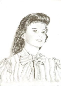 Drawing of my grandmother when she was young by ChristianCowgirl116