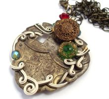 Passage Necklace no. 107 by sojourncuriosities