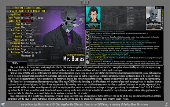 [Earth-27: Oracle Files] Mr. Bones by Roysovitch