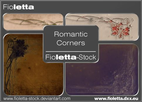 Romantic Corners Brushes by fioletta-stock