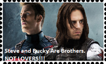 Stucky Are Brothers Not Lovers Stamp. by WOLFBLADE111