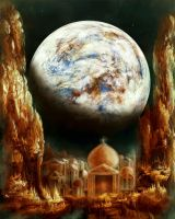 A City in Space, on a Moon the mass of Genemede... by Vladinakova