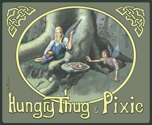 The Hungry Thug and Pixie by sequentialscott