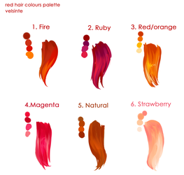Red hairs palette ! by Velsinte