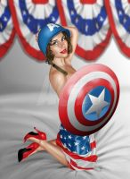 Cap America girl Pin up by Age-Velez