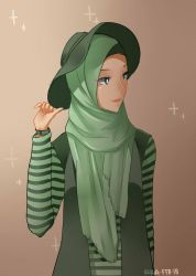 girl with hijab by piyoa