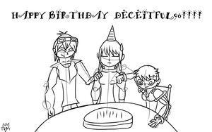 Happy Birthday Deceitful by Thesimpleartist4
