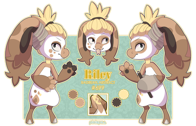 Riley Reference Sheet (CraftyAllie) by pixiepea