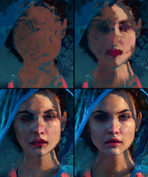 Barbara Palvin - Colour Study Process by AaronGriffinArt