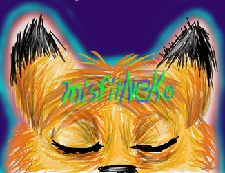 Misfitneko's YT channel art. by ladyjessien