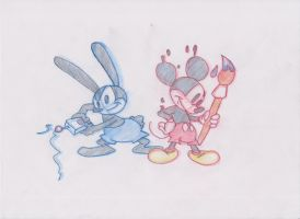 Oswald and Mickey by Animator7