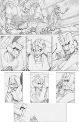 TF Cybertronians page 17 pencil by shatteredglasscomic