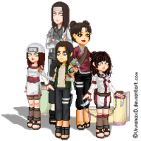 Pixel art Hyuuga Family by Cuine