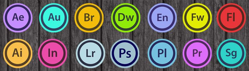 Adobe CS Icons rounded by ChMaletzkyPhoto