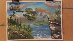 another landscape on paper.  by xilent1