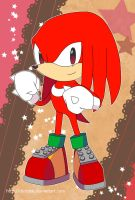 Sonic Postcard - Classic Knuckles by Crystal-Ribbon