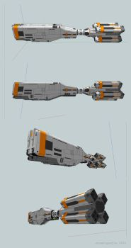 Bunker Hill class Scout Frigate view-05 by AtomicGenjin