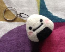 Needle Felt Rice Ball Keychain by Sarsie