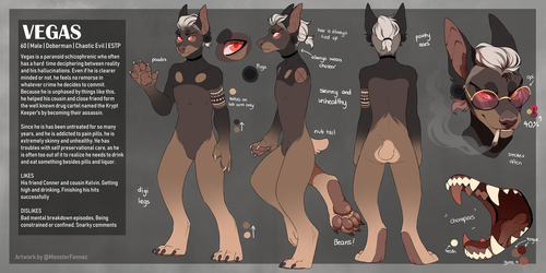 Vegas Reference Sheet by MonsterFennec