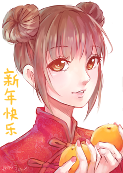 Happy Chinese New Year by Akashicchan