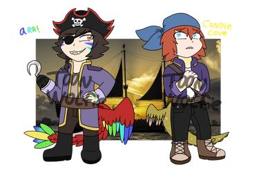 [Ampha Oasis] Pirate-Themed Guest Adopts (CLOSED) by Toon-Wolfie