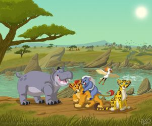 The Lion Guard - With Background by KingSimba