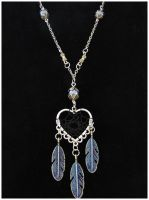 Blue Heart - necklace by SaQe