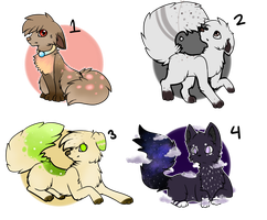Adoptable Batch #1 by TabbyFeather