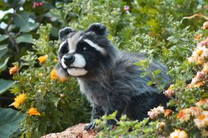 FOR SALE Handmade Poseable Raccoon by MalinaToys