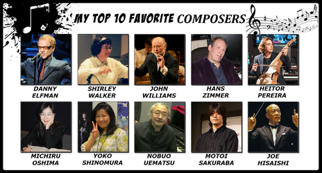 My Top 10 Favorite Composers by 4xEyes1987