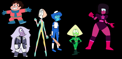 the crystal gems in gemstone's outfits by crossover-619