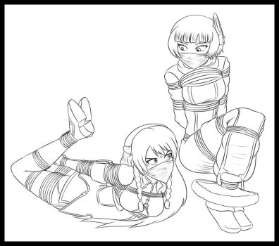 Stream Lineart - Selsesia and Meteora Captured by Humite-Ubie