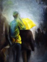 More rain, 2011, 24-30cm, oil on canvas by oanaunciuleanu