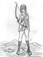 Giantess Sketch - Artemis by Colonel-Gabbo