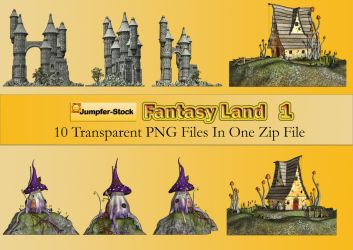 Fantasy Land PNG Stock Pack by Roy3D