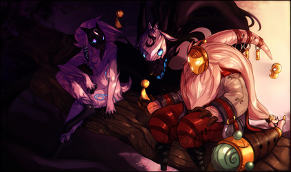[League of Legends/LoL] Kindred Spirits by FireFlufferz