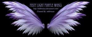 Misty Light Purple Fractal Wings by mkbrouse