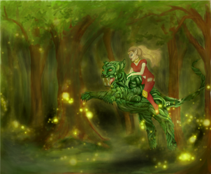 Ride Trough The Forest by sofie-arts