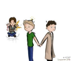 team screw life [spn] -- Drawcember 30/16 by oh-no-Castiel