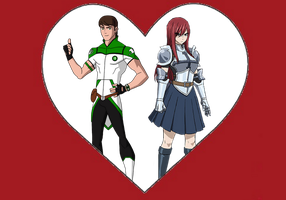 Ben and Erza enamored by Crossovercomic